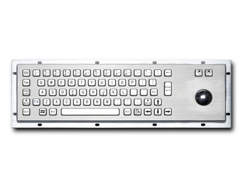 煤矿防爆柜金属PC键盘D-8602Ex防尘防水键盘防爆键盘嵌入式不锈钢工业键盘