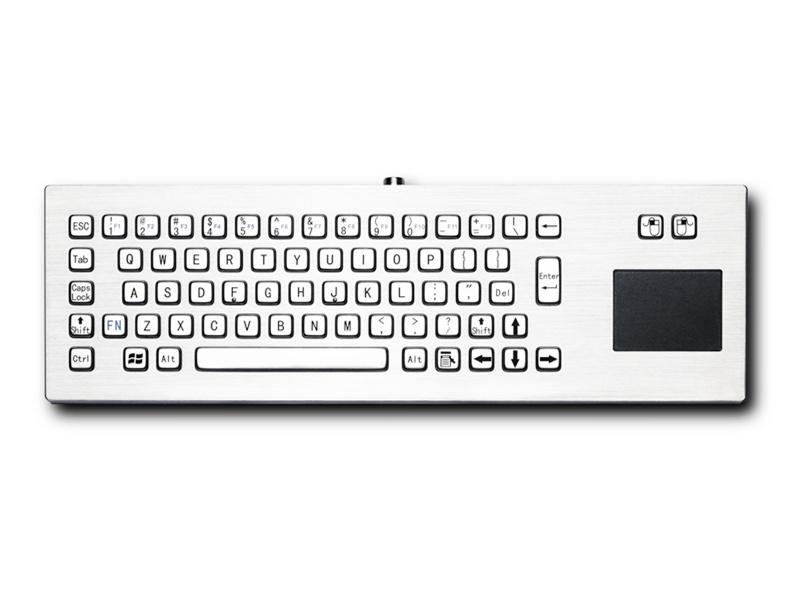防爆电脑金属键盘D-8608DESK键盘鼠标一体桌面式防尘防水键盘防爆键盘不锈钢工业键盘