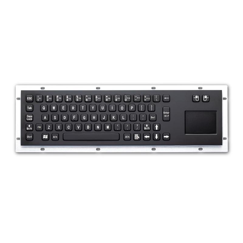 无人机操作台金属PC键盘D-8607B键盘鼠标一体防尘防水键盘防暴键盘嵌入式不锈钢工业键盘