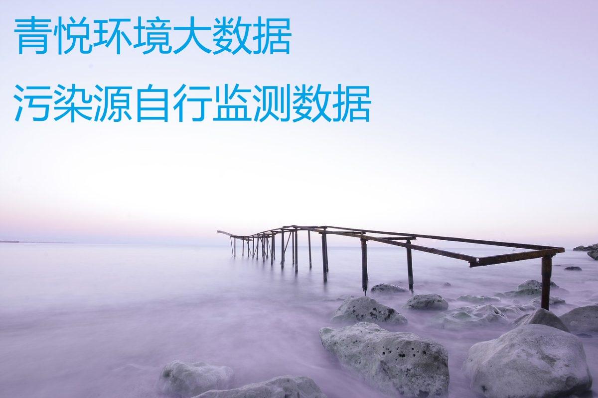 污染源自行监测数据