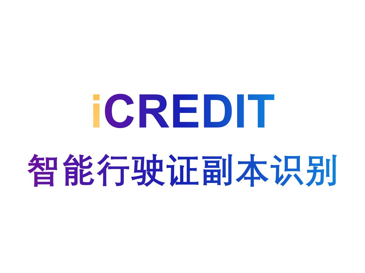 印刷文字识别-智能行驶证副本识别-艾科瑞特(iCREDIT)
