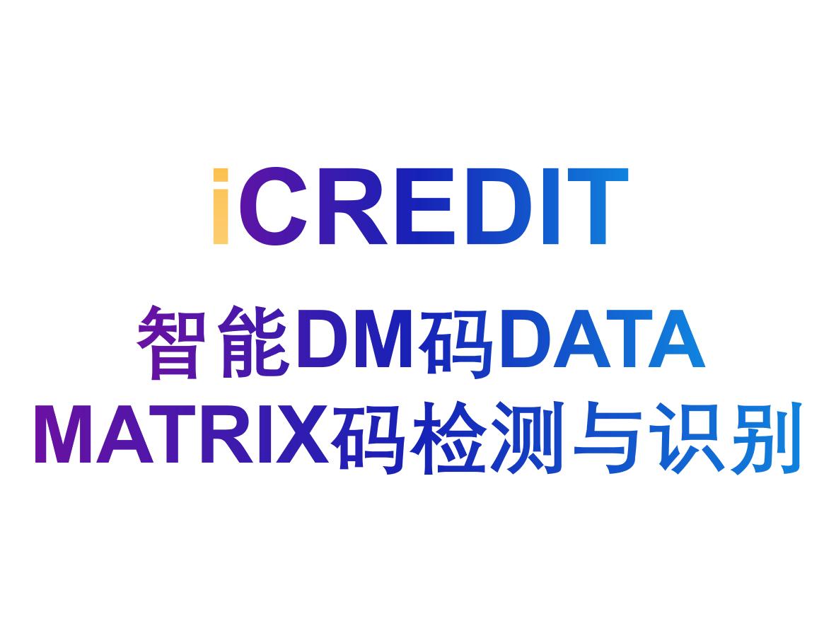 智能图像分析-智能DM码DATA MATRIX码检测与识别-艾科瑞特(iCREDIT)