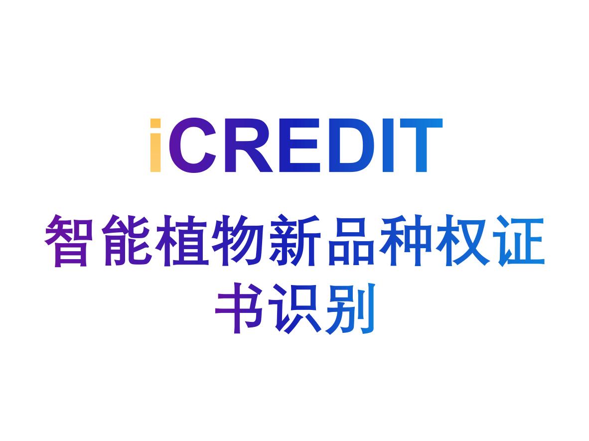 印刷文字识别-智能植物新品种权证书识别-艾科瑞特(iCREDIT)
