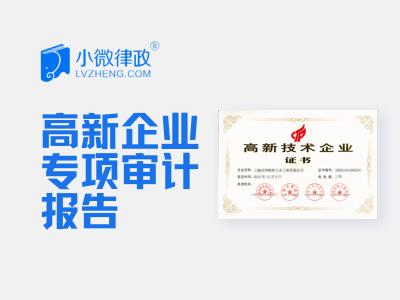 北京高新企业专项审计报告