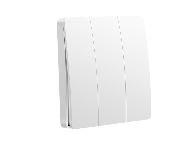 鸿雁动能开关随意贴开关白色单键动能开关(白色/433)