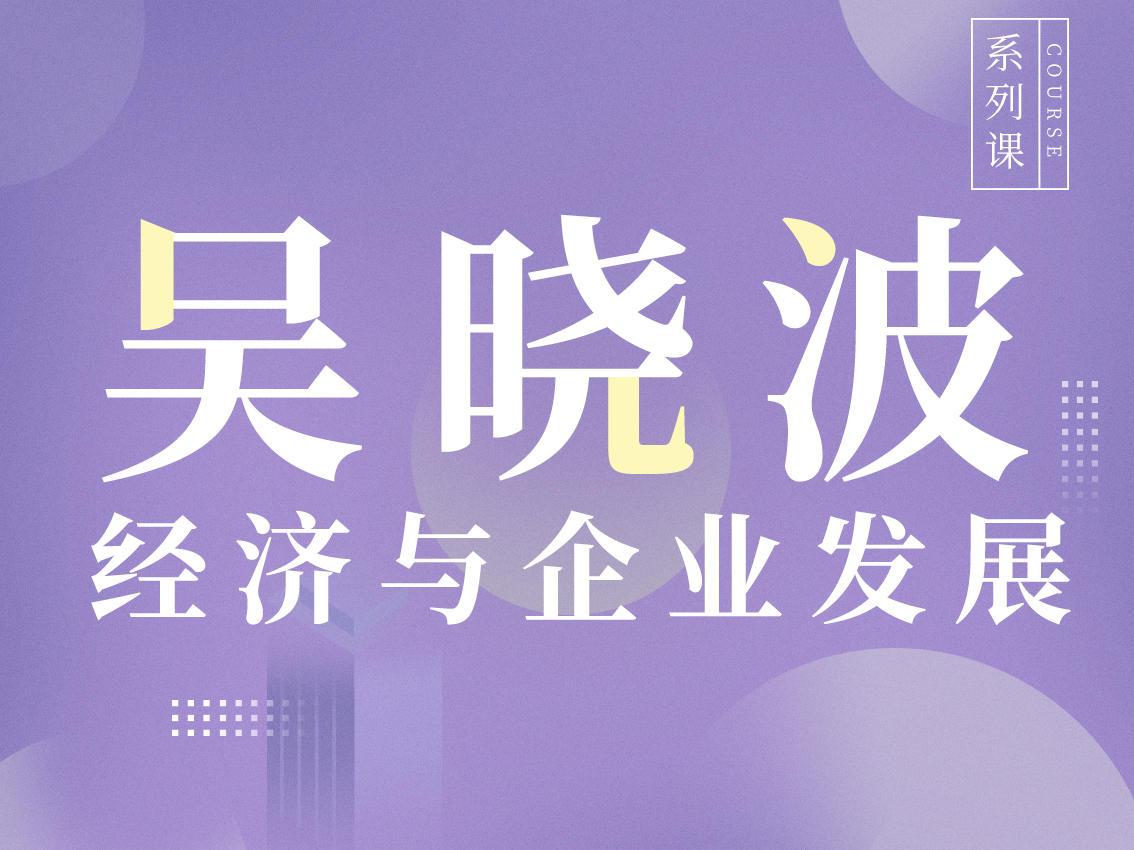 吴晓波·经济与企业发展专题