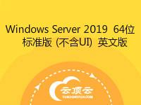 Windows Server 2019(不含UI) 64位 英文版 标准版