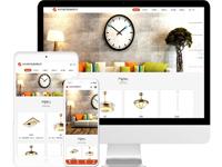 灯具公司免费网站模板源码